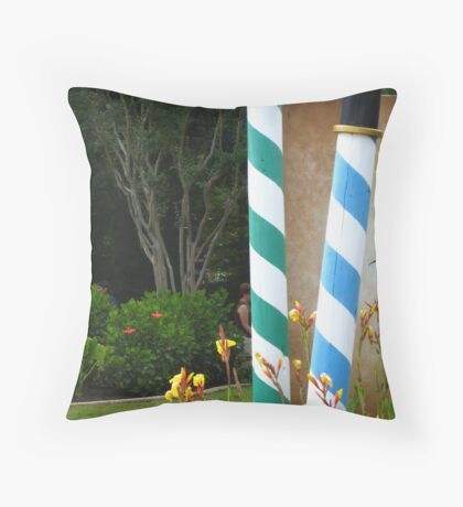 Colors of Amusement--Candy Poles Throw Pillow