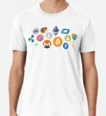 cryptocurrency patterns  Men's Premium T-Shirt