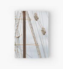 Masting Of Big Wooden Sailing Ship, Detailed Rigging Hardcover Journal