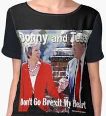 Don't Go Brexit My Heart Chiffon Top