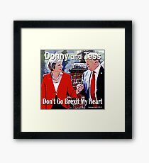 Don't Go Brexit My Heart Framed Print