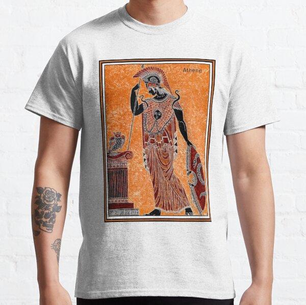 ATHENA : Vintage Greek Goddess of War Print Classic T-Shirt
