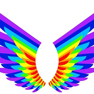 Rainbow angel wings (2nd version) by FEDVAL