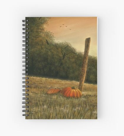 OCTOBER IN THE SOUTH, Acrylic Painting, for, prints and products Spiral Notebook