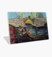 The Langlois Bridge at Arles with Women Washing, 1888 van Gogh Laptop Skin
