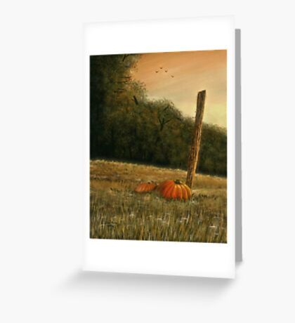 OCTOBER IN THE SOUTH, Acrylic Painting, for, prints and products Greeting Card