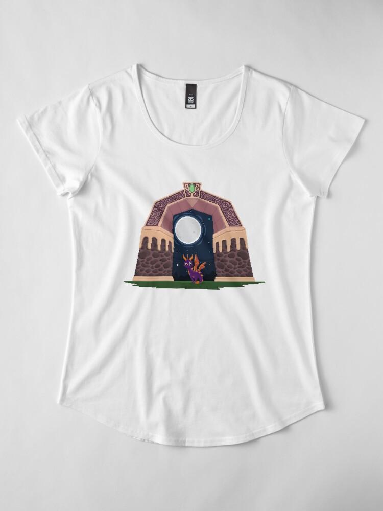 Alternative Ansicht von Spyro Welttor Premium Rundhals-Shirt
