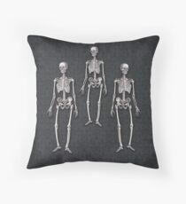 Human Skeletons Gothic Halloween Floor Pillow
