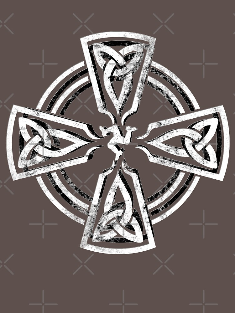 Celtic Cross Manx Cross 3 Legs Isle Of Man Knots by thespottydogg