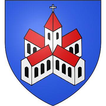 French France Coat of Arms 15471 Blason de la ville de Lucelle by wetdryvac