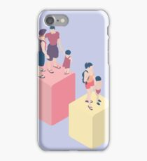 Isometric Infographic Family Types - LGBT included iPhone Case/Skin