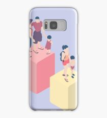 Isometric Infographic Family Types - LGBT included Samsung Galaxy Case/Skin