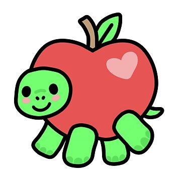 Turtle apple by katrinawaffles