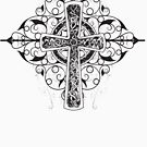 Celtic Cross T-Shirt Gaelic Manx Isle Of Man Knots by thespottydogg