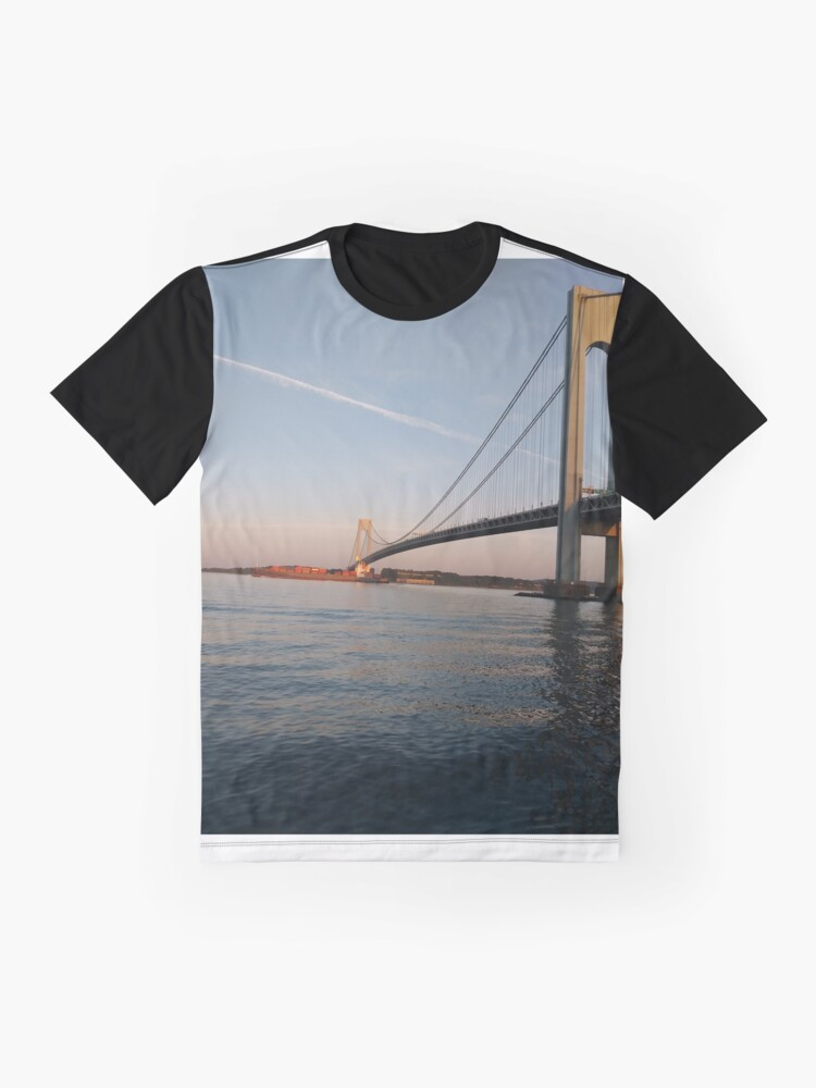 Alternate view of New York, New York City, Brooklyn, #NewYork, #NewYorkCity, #Brooklyn, Verrazano Narrows Bridge, #VerrazanoNarrowsBridge,  Graphic T-Shirt