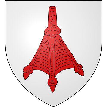 French France Coat of Arms 15474 Blason de la ville de Luemschwiller by wetdryvac