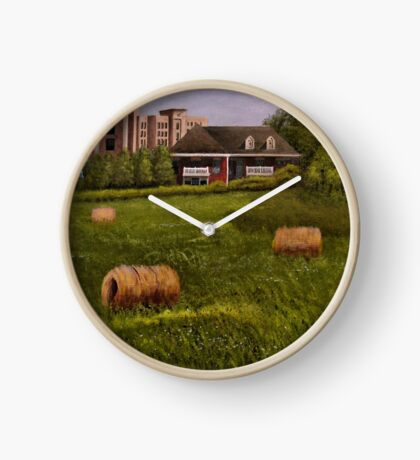 A LITTLE BIT OF COUNTRY, Acrylic Painting, for prints and products Clock