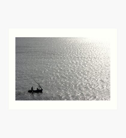 Little Us In Our Little Boat On A Big Sea Art Print