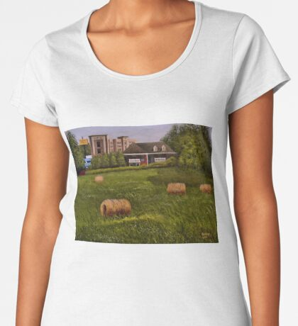 A LITTLE BIT OF COUNTRY, Acrylic Painting, for prints and products Women's Premium T-Shirt