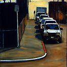 Company Parking by ashleywellsart