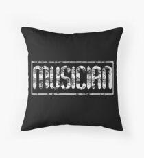 Musician Throw Pillow