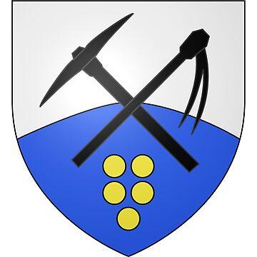 French France Coat of Arms 15478 Blason de la ville de Lussault sur Loire by wetdryvac