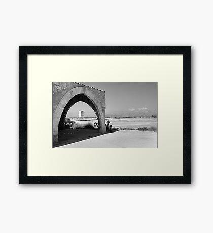 Trapani Salt Pans Framed Print