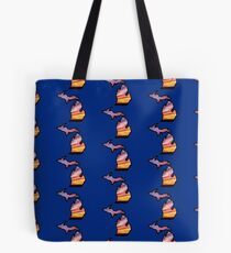 Michigan State Greats Lakes Sunset Design Tote Bag