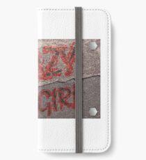 Streetwear Crazy Girl iPhone Flip-Case/Hülle/Klebefolie