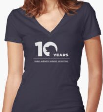 Park Avenue 10 Years (Dog) Women's Fitted V-Neck T-Shirt