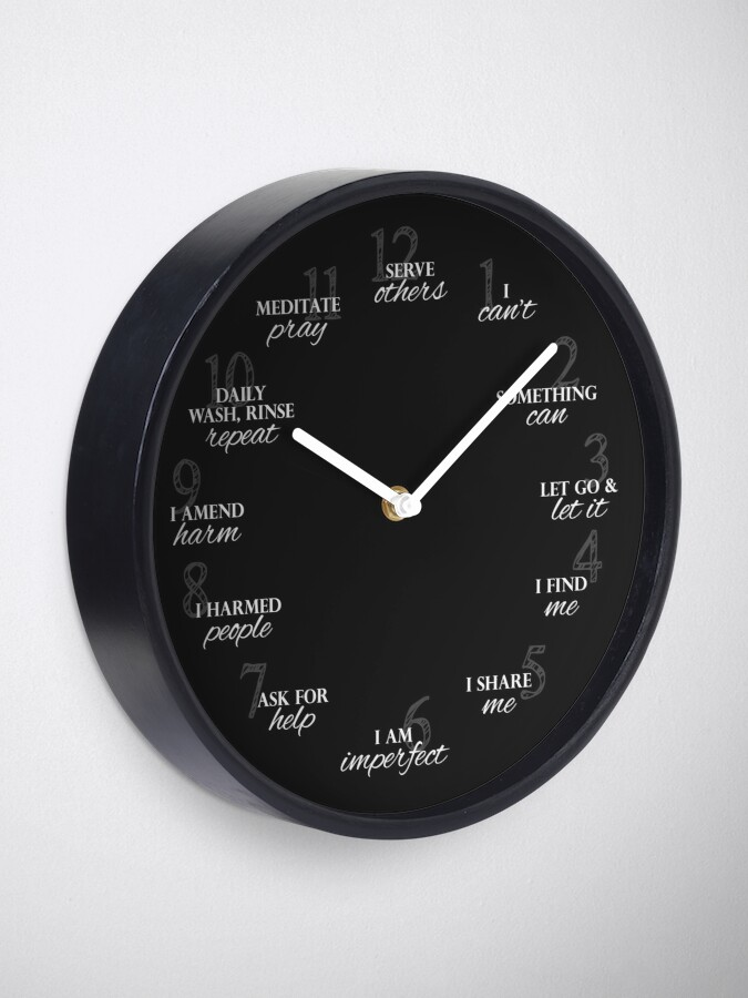 Alternate view of 12 Steps of Recovery Clock Clock
