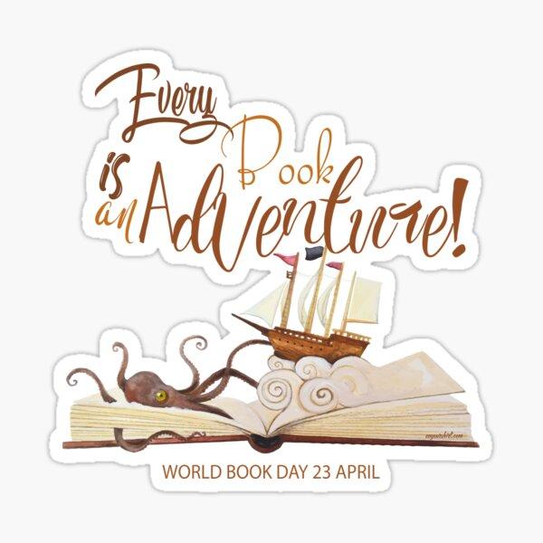 Every Book is an Adventure Sticker