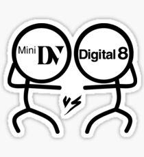 MiniDV vs Digital 8 Sticker