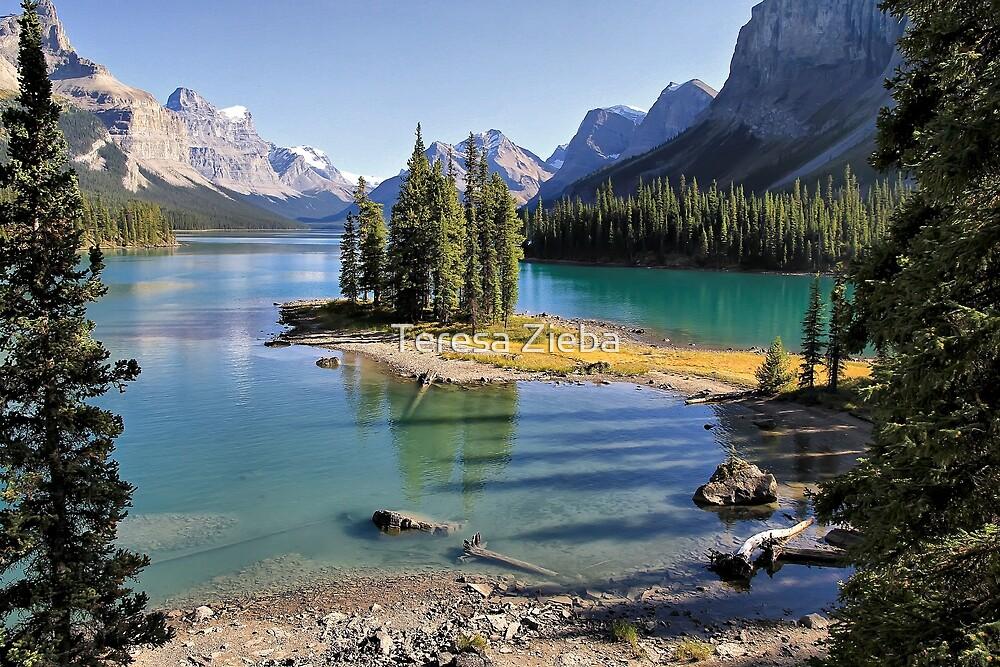 Famous Spirit Island on Maligne Lake, Jasper NP by Teresa Zieba