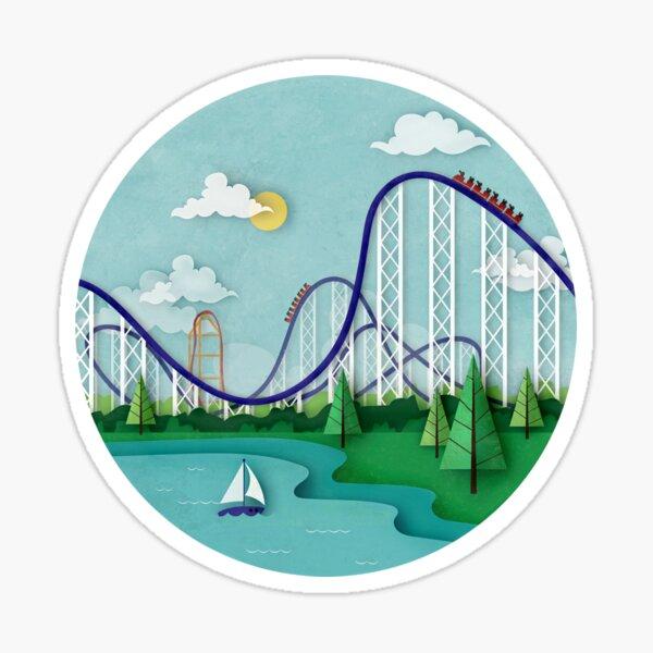 Roller Coaster Illustration Sticker