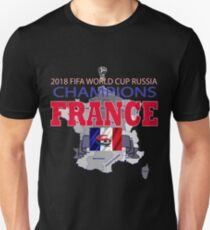 8600e83058d France 2018 World Cup Final Winners Champions Slim Fit T-Shirt