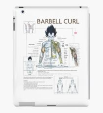 Exercise Diagram - Barbell Bicep Curl iPad Case/Skin