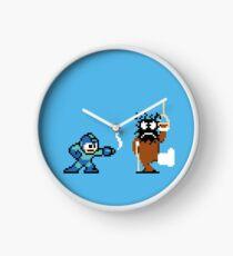 Pixel Crossover (Mega Man & Duck Hunt) Clock
