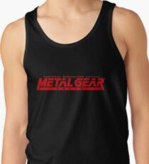 metal gear solid logo Tank Top