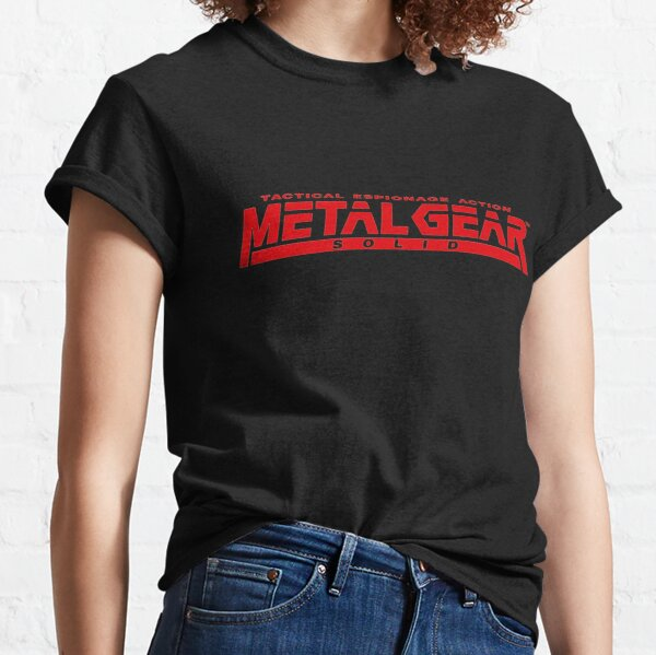 métal engrenage solide logo T-shirt classique