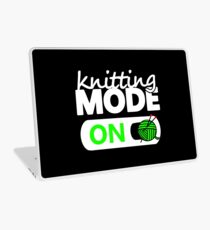 knitting mode on / funny gifts for knitters Laptop Skin