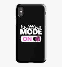 knitting mode on pink iPhone Case