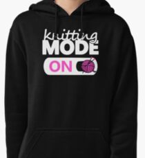 knitting mode on pink Pullover Hoodie
