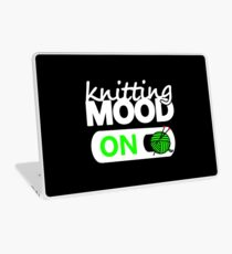 knitting mode on green / funny quotes knitters Laptop Skin
