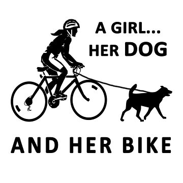The Girl, her dog and her bike t shirt by lovelypresents