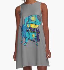 Dog robot A-Line Dress