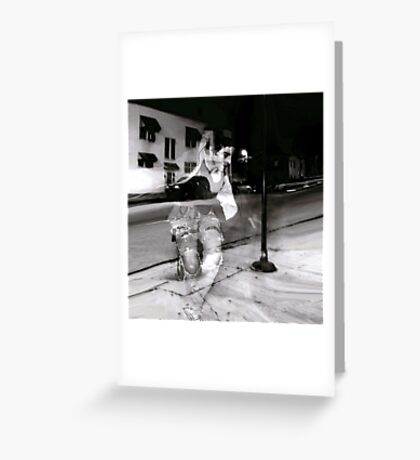 DANCE TO EXHAUSTION Greeting Card