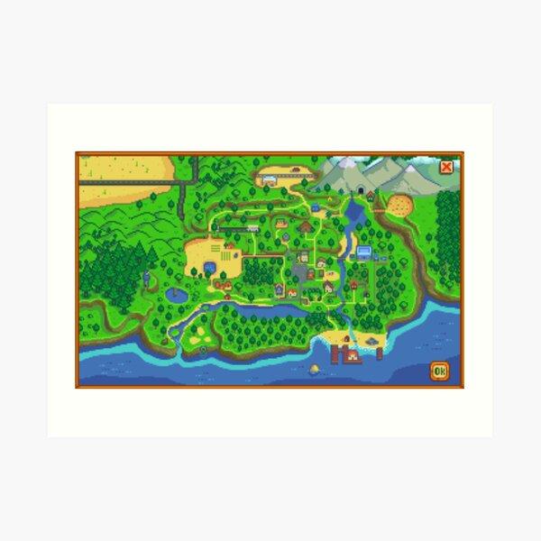 Stardew Valley Map Art Print
