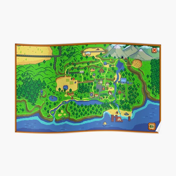 Stardew Valley Map Poster