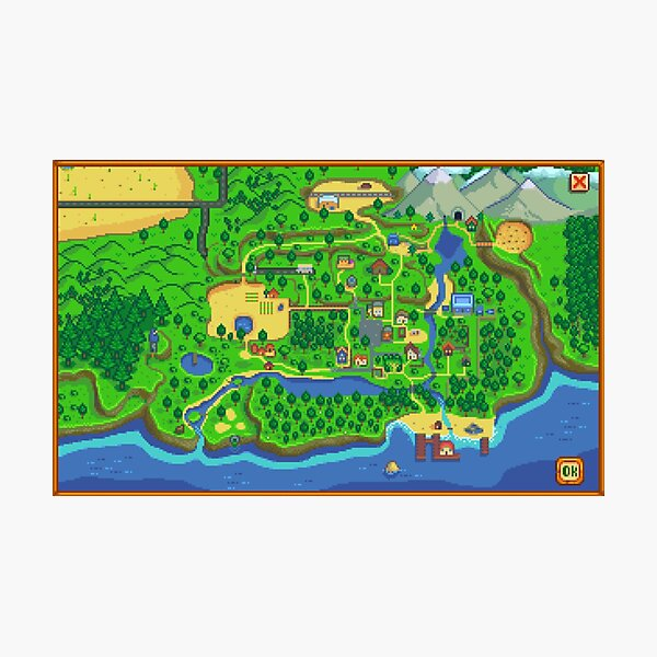 Stardew Valley Map Photographic Print
